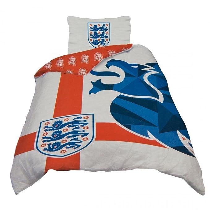 Single England St Red//White George Duvet Cover Set