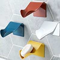 Generic Brands - Jabonera para ducha, jabonera autodrenante, color blanco, azul, rojo ladrillo, amarillo