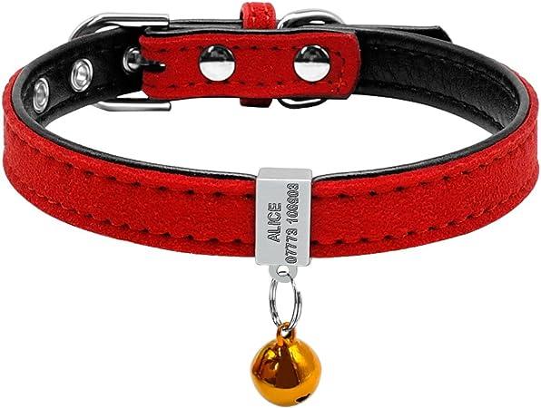 Berry - Collar acolchado personalizado para mascota, con grabado ...