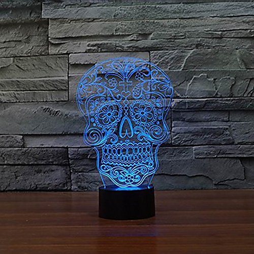 Sugar Skull Day Of The Death Face Lamp Innovative Colorful LED Night Lamp Creative Gifts Lampara USB Home Deco Living Room Show Express Expedited 4-7 business - Of Christmas 25 Fx Days
