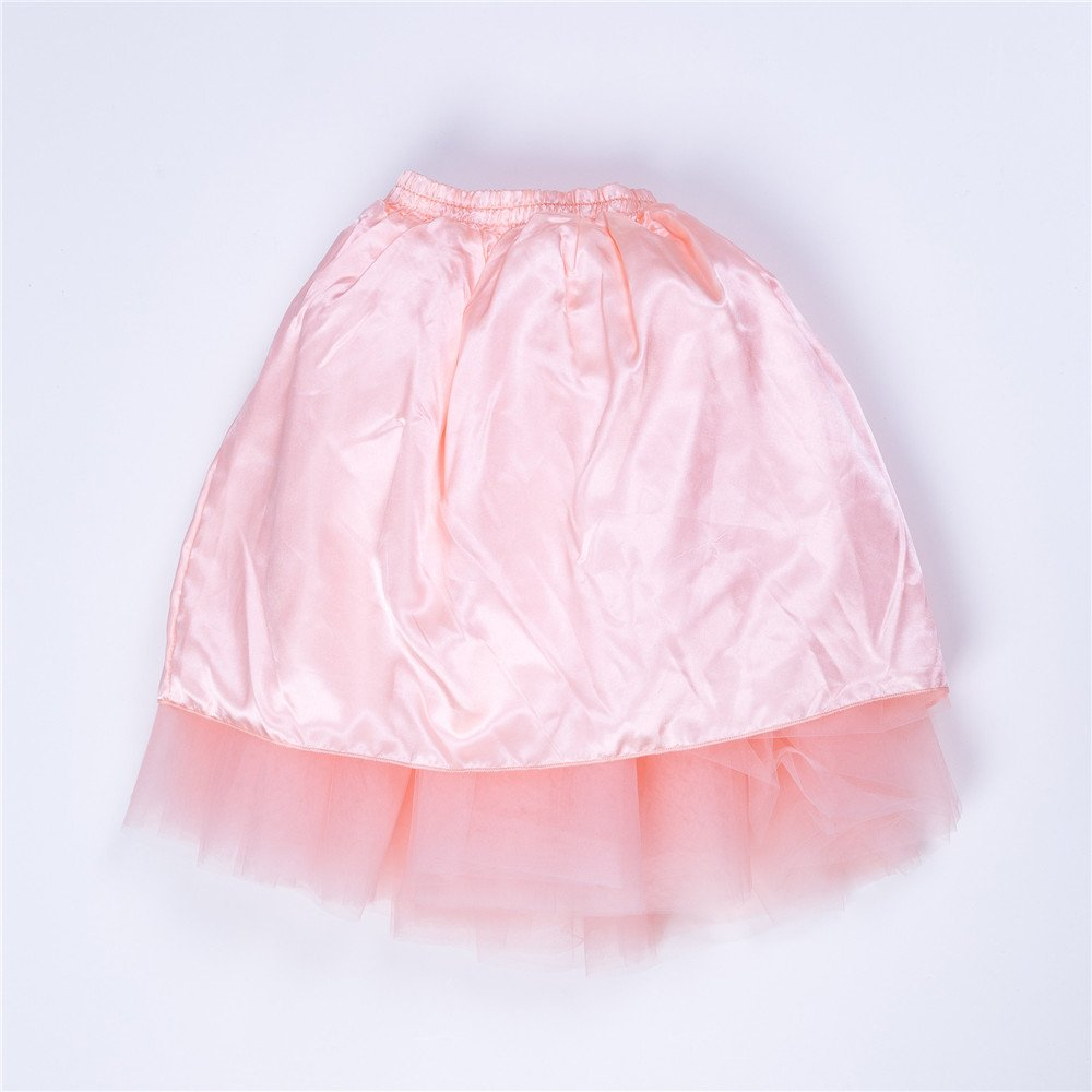Zcaynger Girls Skirt Tutu Dancing Dress 5-Layer Fluffy with Ribbon by Zcaynger (Image #4)