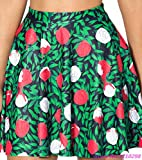 Friedman Rose Flower Print Green Short Skirts High Waist Pleated Slim Fit Dance Skirts Summer Saia