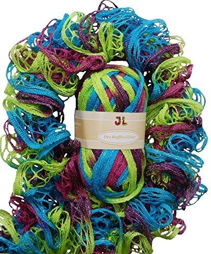 DEE Ruffle Glitter Webbed Net Style Yarn 806