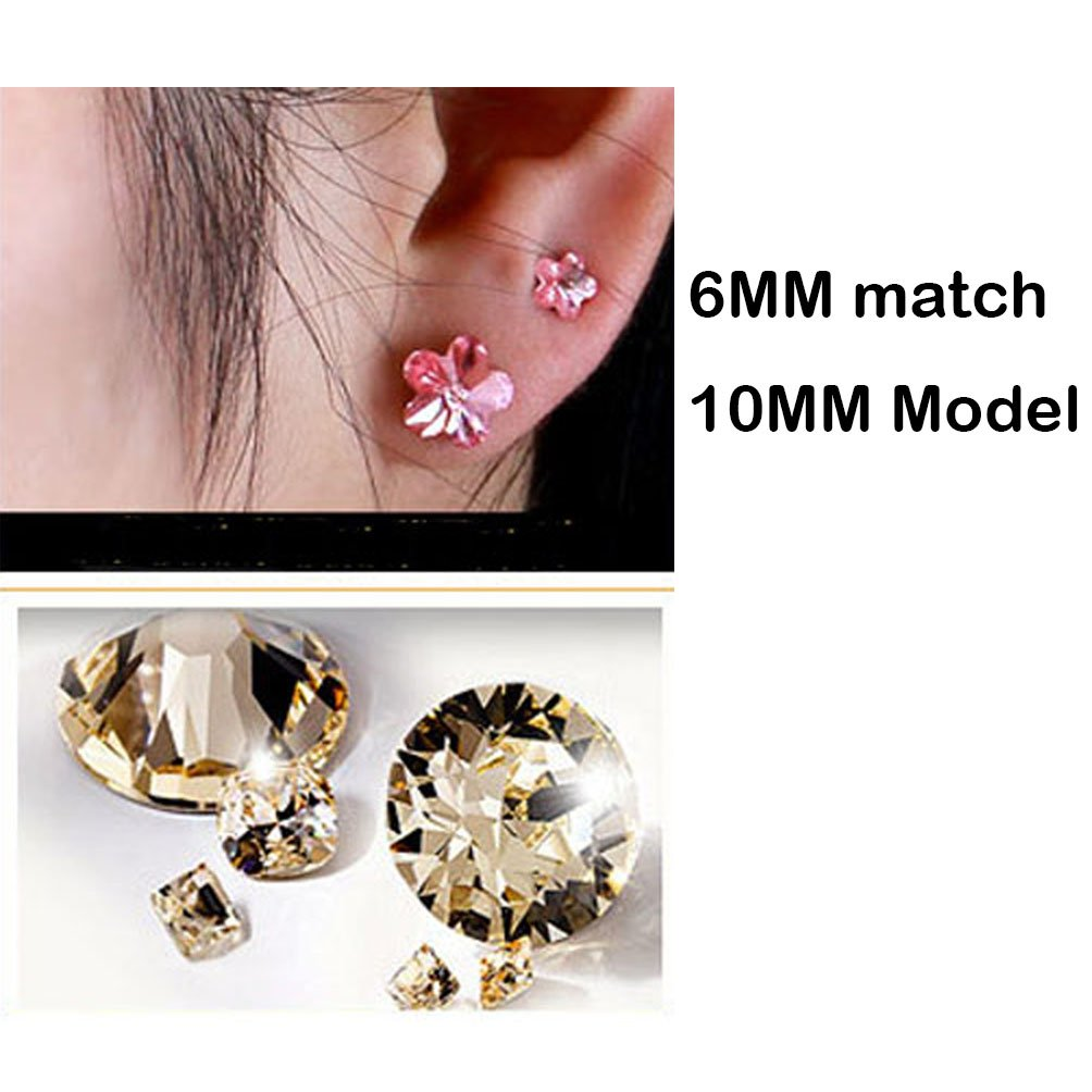 6e94a91eb Amazon.com: Jazlyn White Gold Plated Sparkling Romantic Sakura Cherry  Blossom Flower Australia Crystal Stud Earrings for Women Girls Party Ball  Wedding ...