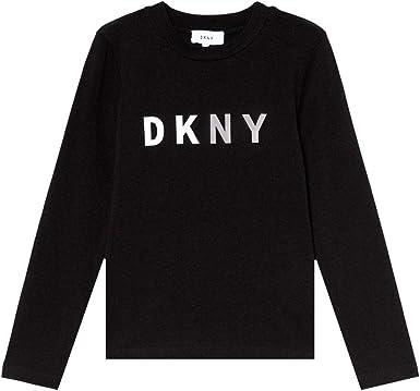 DKNY Kids Logo Print Long Sleeve T-Shirt Black