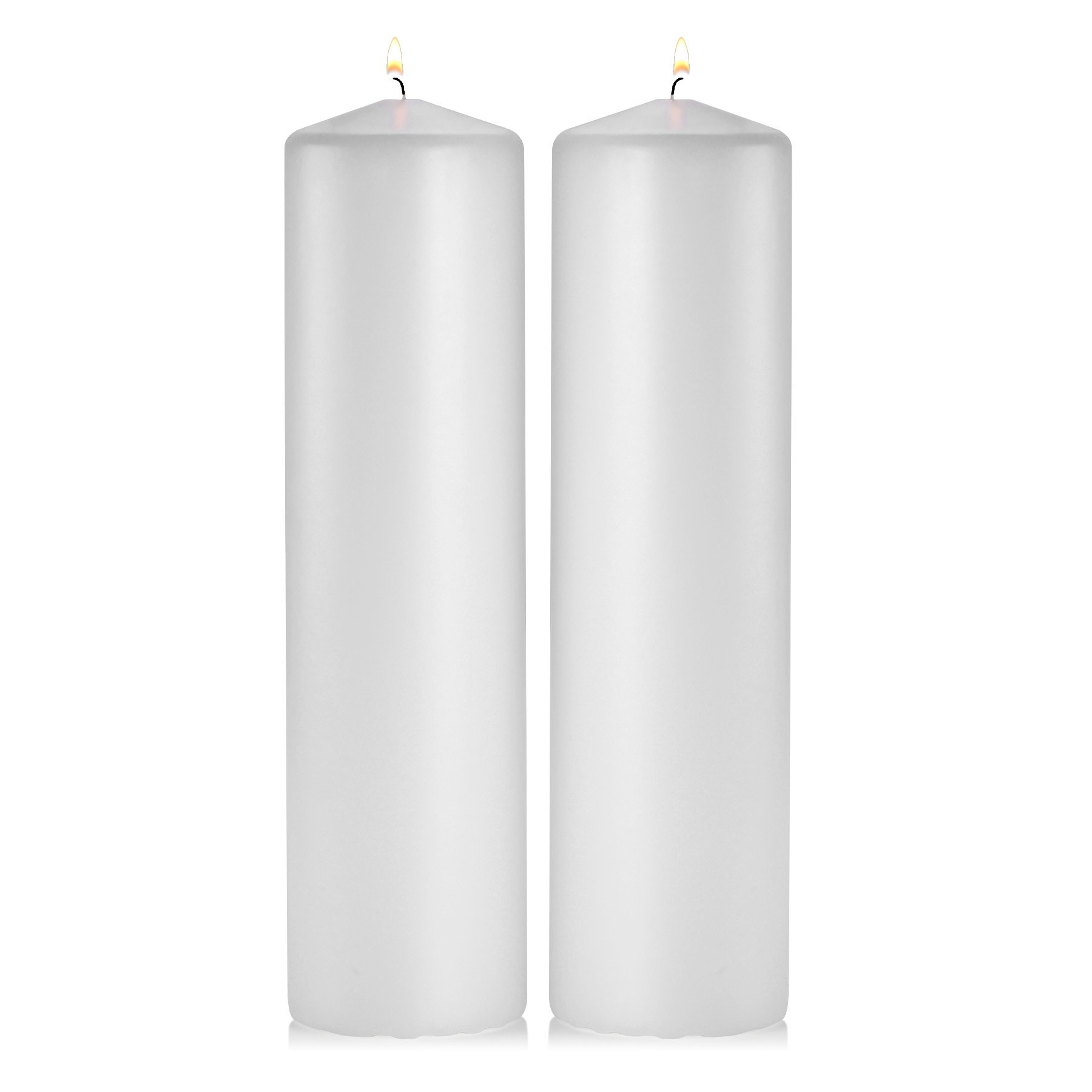 Light In the Dark White Pillar Candles - Set of 2 Unscented Pillar – 3x12 inches for Wedding Centerpiece candle, Home Decor and Holiday Celebrations