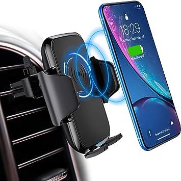 Galaxy S9//S8////S7//S6 steanum Qi Handy Halterung f/ür Auto,Induktions Autohalterung Air Vent Phone Holder Kompatibel f/ür iPhone XS Max//Xs//Xr//X//8//8Plus,Samsung Note 5//8 Schwarz