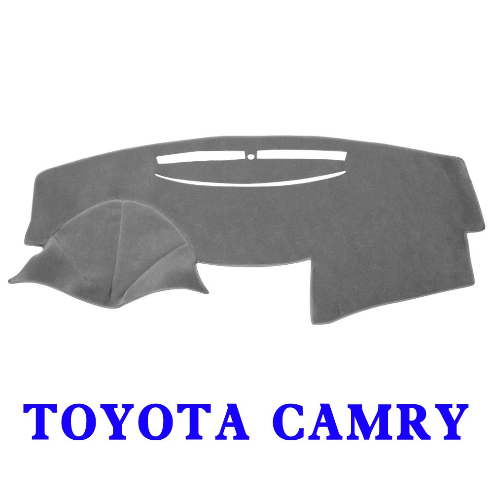 JIAKANUO Auto Car Dashboard Dash Board Cover Mat Fit for Toyota Camry 2007-2011 (Camry 07-11, Gray)