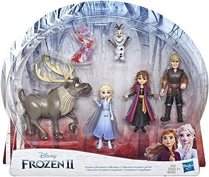Frozen Anna Elsa Kristoff Sven Olaf Vinyl Figure Set w// Zippered Case Disney