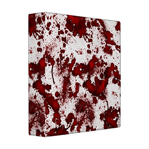 3 Ring Binder, Blood Stained Book, 4 Sizes Available (Mini, White Interior) (Fake Blood Recipes)