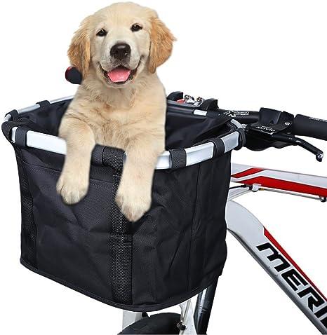 ANZOME Cesta para Bicicleta, Plegable, pequeño, Mascota, Portador ...