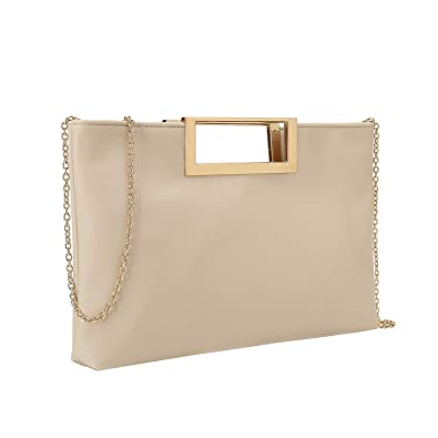 Charming Tailor Fashion PU Leather Handbag Stylish Women Convertible Clutch  Purse (Beige) c692b0aa71