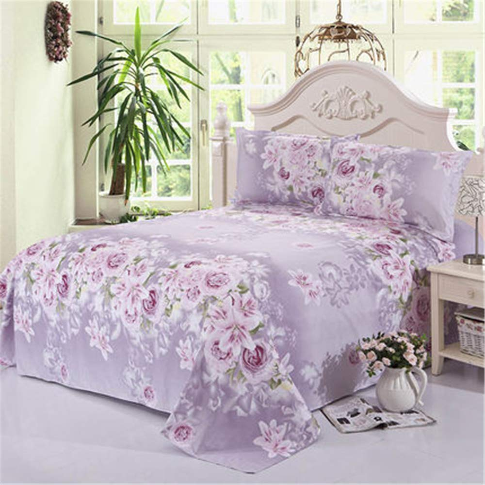 FENGDONG Bed Sheet Large Flower Style sheetCan't Afford Ball Include by FENGDONG