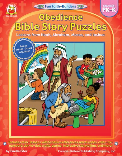 Obedience Bible Story Puzzles, Grades PK - K: Lessons from Noah, Abraham, Moses, and Joshua (Fun Faith-Builders)