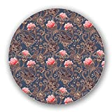 Uneekee Paisley Roses Lazy Susan: Large, pure birch wooden Turntable Kitchen Storage