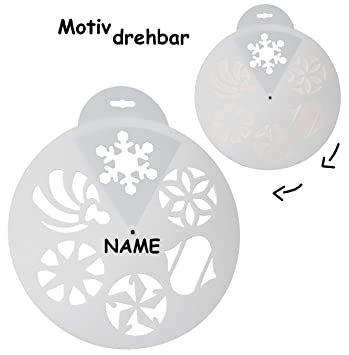 Unbekannt Schablonen Vorlage Zb Für Schneespray 6 Stück