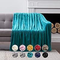 MIULEE Manta Blanket Terciopelo Grande para Sófas Mantilla de Franela para Siesta Súper…
