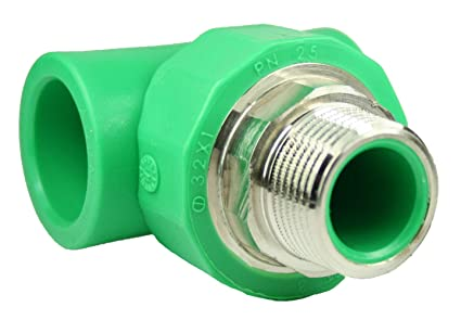 PPR Aqua de Plus – Racor en T para tubos de 32 mm y rosca exterior