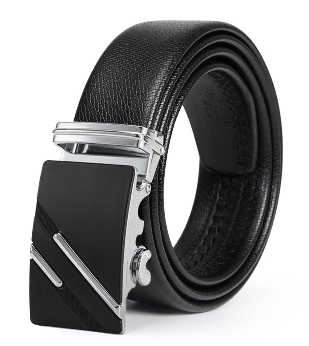 ITIEZY Cintura da Uomo In Pelle con Fibbia Automatica Nero Marrone Casuale Moda…