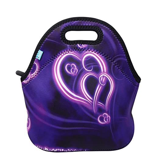 Lunch Boxes, OFEILY Lunch Tote Lunch bags with Neoprene(Middle, Purple heart)