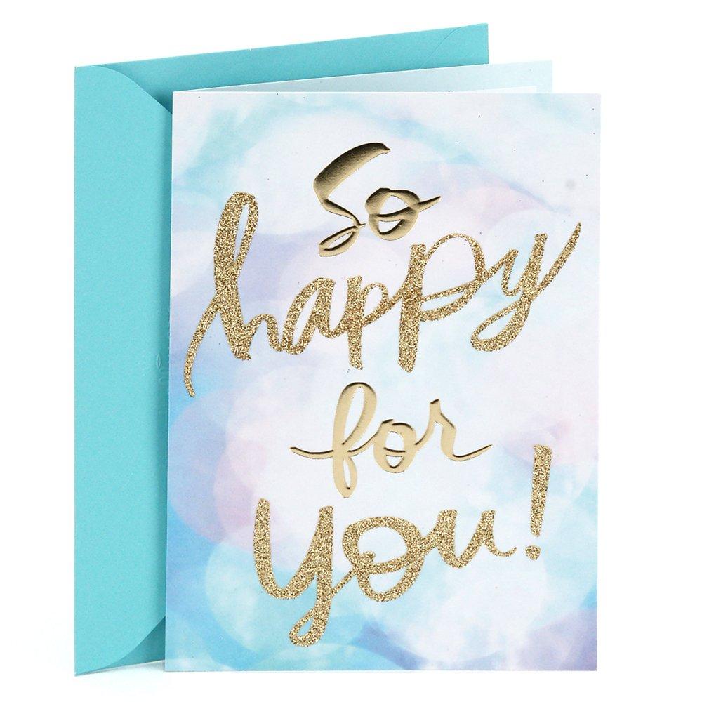 Amazon Hallmark Congratulations Card So Happy For You