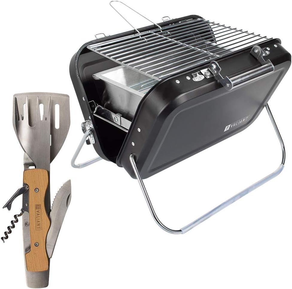 Valiant Barbecue à Charbon Portable pour Pique-Nique: Amazon.fr: Jardin