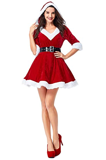 exclusive deals 100% authentic special section Amazon.com: Womens Christmas Mrs. Claus Dress Costume Xmas ...