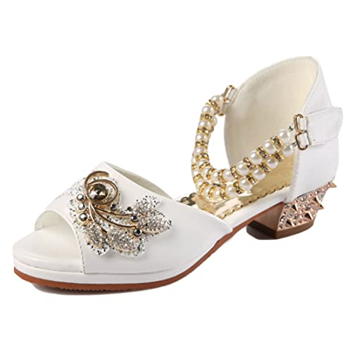 7d80da5d637ee YYF Petite Fille Belle Sandale Chaussure de Princesse avec Bloc Talon  Confortable a Poter Bien pour
