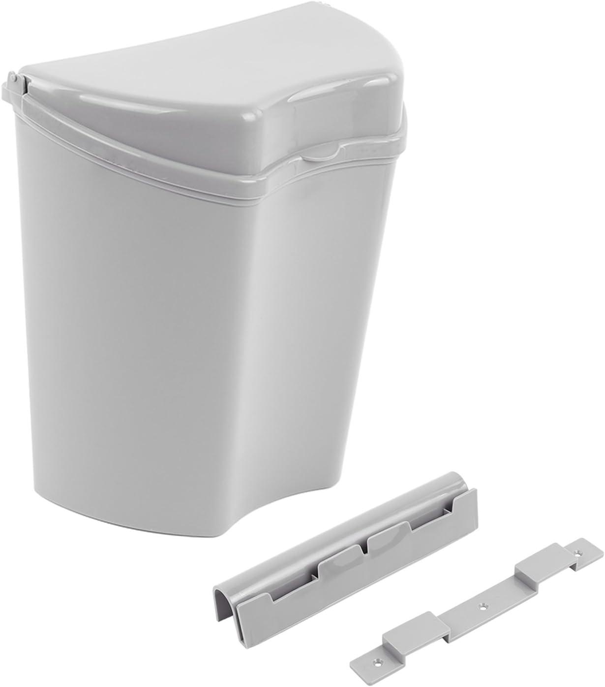 HABA Abfalleimer grau, inkl. Halterung, kompaktes Maß (8 x 8 x 8), ideal  für Camping