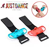 Wrist Bands for Nintendo Switch Just Dance 2019 2020, Elastic Wrist Strap for Joycon Controller, Two Sizes for Adults…