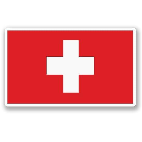 2 x 10 cm de vinilo, diseño de bandera Suiza iPad coche para ordenador portátil