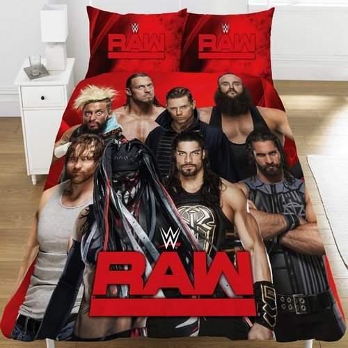 WWE Raw V Smackdown UK Single/US Twin Duvet Cover Set by WWE