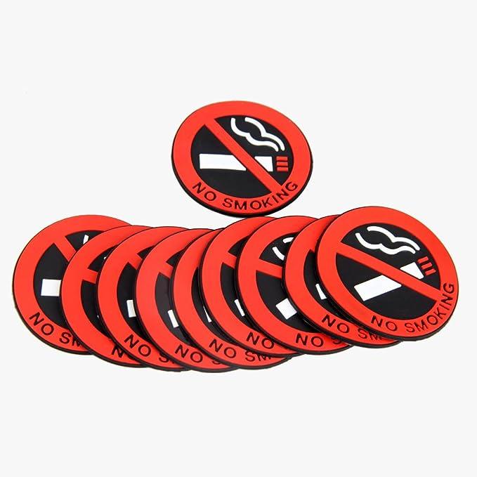 NO SMOKING Sign Rubber Adhesive Sticker Car Office Notice Warning Logos Hot Sale