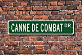 Canne De Combat Fan Sign French Martial Art Martial Arts Fan Yard Fence Driveway Street Sign Indoor Outdoor Decorative