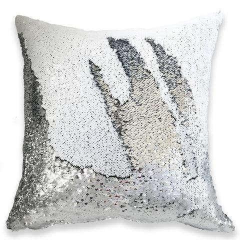 "16/"" Magic Mermaid Pillow Case Reversible Sequin Glitter Sofa Cushion Cover US"