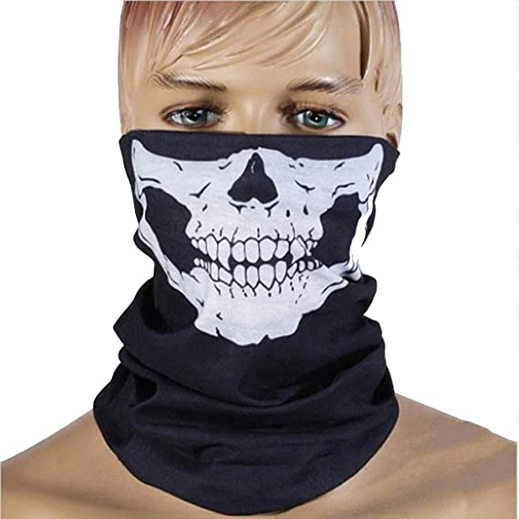 6cd9f3d2fdc4 Yookoon 3d Tête de mort Masque respirant transparente transparente Tête de mort  Magic Foulard Masque chaud