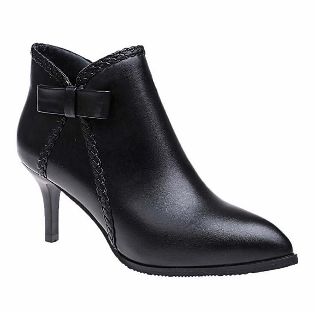 Women's Boots Comfort Basic Pump Fashion Boots Bootie Walking Shoes Wedding Casual Dress Party & Evening Dress Shoes Eu Size 34-40 ( Color : Black , Size : 38 )