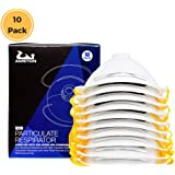 AMSTON N99 Dust Masks - NIOSH-Certified - Safety Respirator w/ Valve (Box of 10) Ventilated Particulate Respirators for Construction, PPE, Home Improvement, DIY Projects