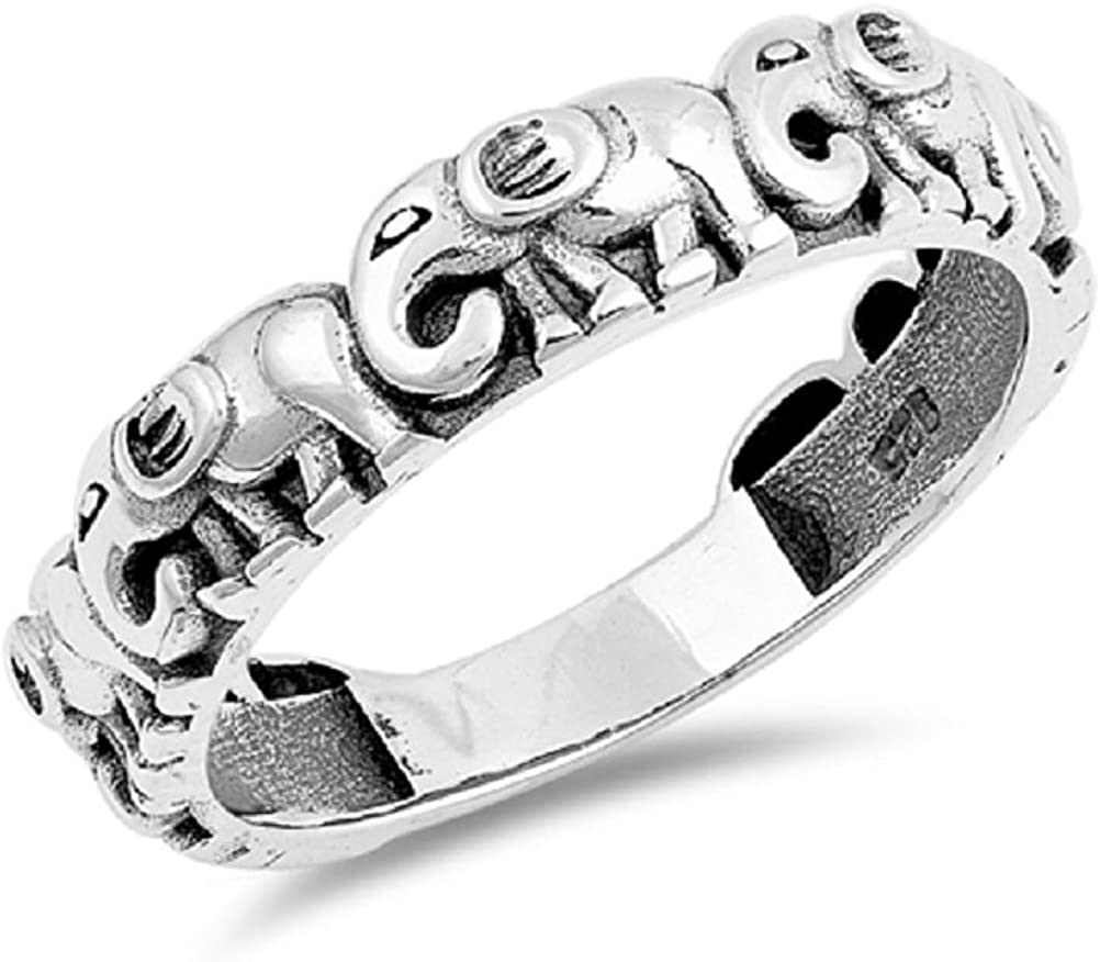 CloseoutWarehouse Oxidized Sterling Silver Twisted Design Celtic Ring