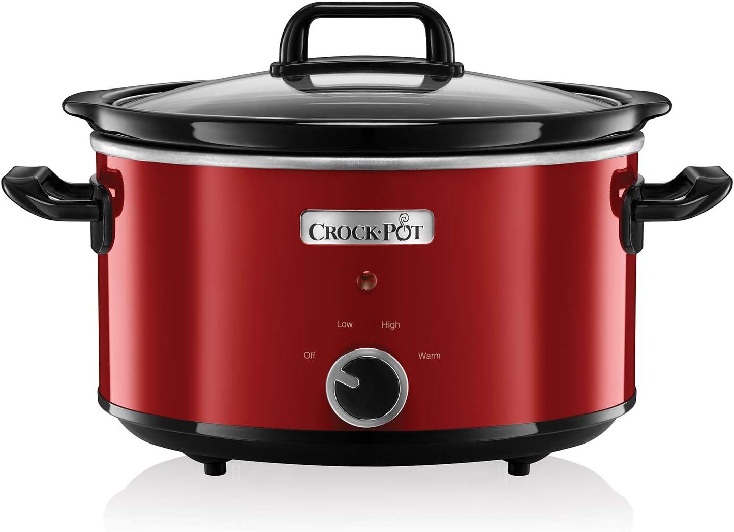 Crock-Pot - Olla de cocción lenta (3,5 l), color rojo [importado de UK]: Amazon.es: Hogar