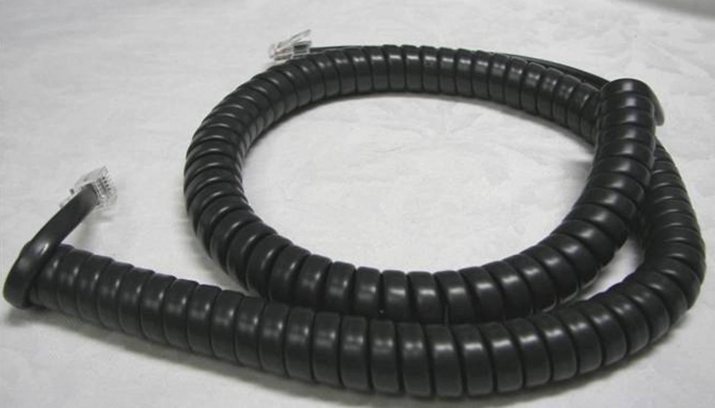 50 Pack of Charcoal (aka Black) 12' Ft Handset Cords for Avaya IP Phone J100 9600 Series Digital 9400 9500 9608 9608G 9610 9610G 9611G 9620 9620L 9630 9641GS 9650C IX Curly Coil Lot by DIY-BizPhones by DIY-BizPhones