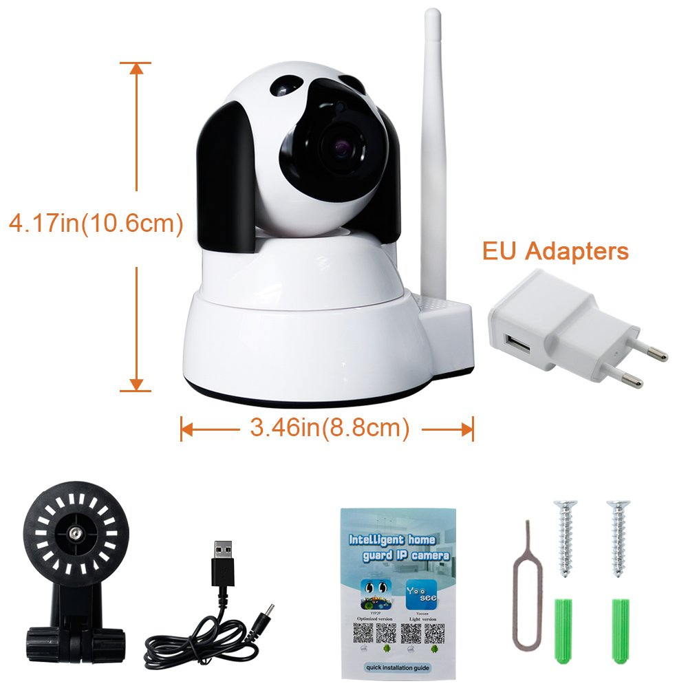 IP Camera Wireless LXMIMI Wifi Camera 720P HD Surveillance Camera IP Cam with 355 °/100 ° Pivoting, Motion Detection, Night Vision, Remote Control