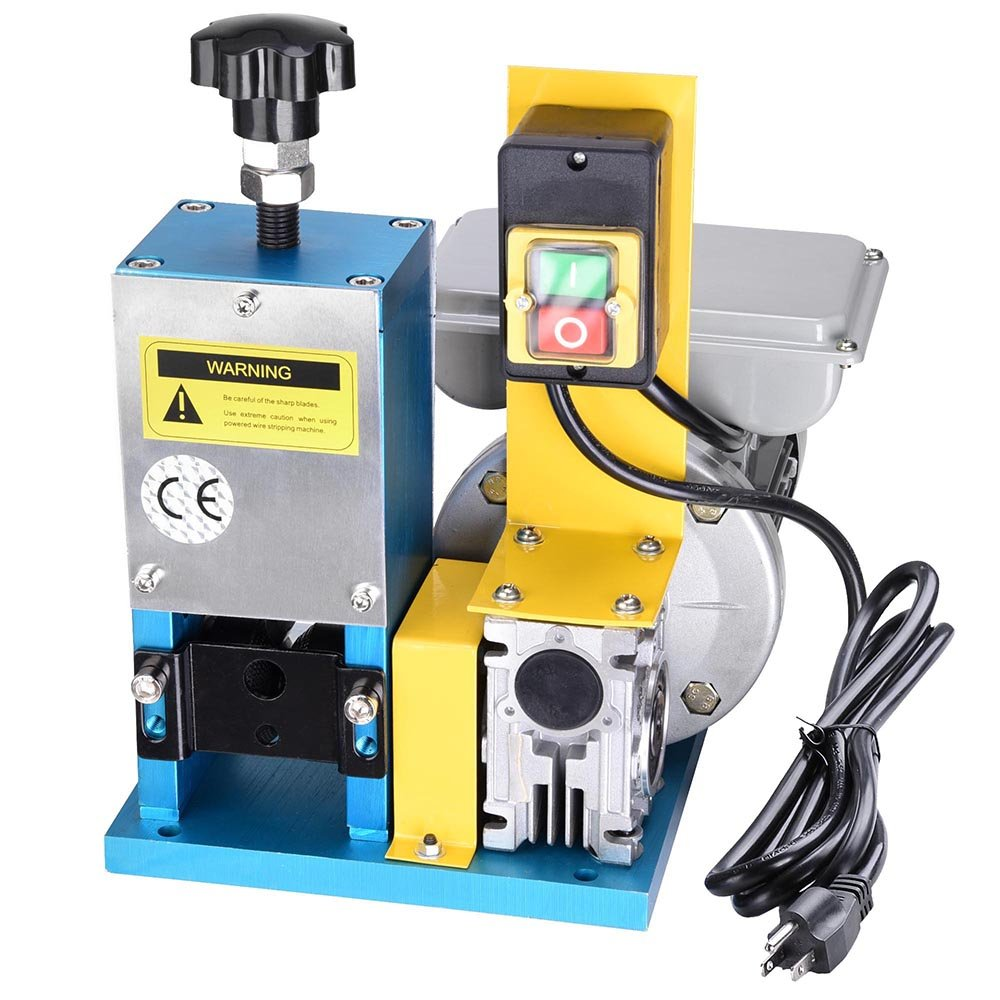 Yescom Electric Automatic Wire Stripping Machine Benchtop Powered Cable Stripper Tool 0.12-1'' for Scrap Copper Recycling
