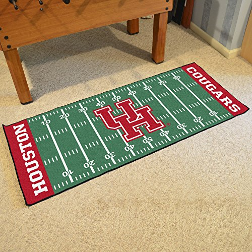NCAA University of Houston Cougars Football Field Runner Mat Area Rug by Unknown (Image #2)
