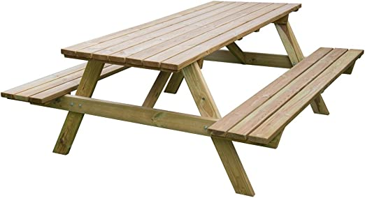 Evergreen - Mesa de picnic, para bares, cervecerías de madera ...