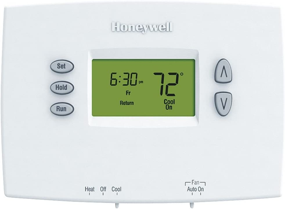 Honeywell TH2110DH1002 Thermostat, Horizontal PRO 2000 5+2 Day Programmable - Backlit, 1H/1C Dual Powered