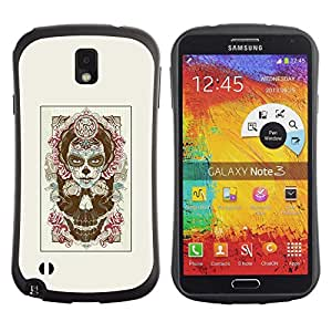 Fuerte Suave TPU GEL Caso Carcasa de Protección Funda para Samsung Note 3 N9000 N9002 N9005 / Business Style Rose Halloween Witch Halloween