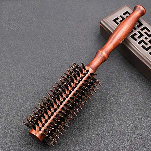 Ceramic New Hair Brush (New 3 Sizes Nano Thermal Ceramic Ionic Round Barrel Hair Brush Tail Curling Comb for Hairdressing Styling Hair Beauty Tool)