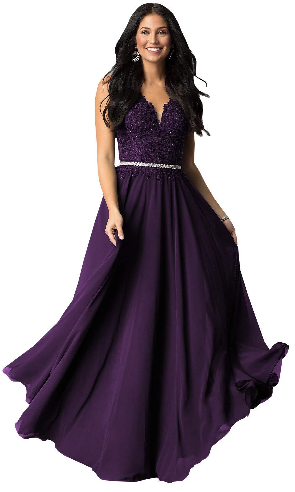 Prom Dresses for Women,Womens Sleeveless Formal Ladies Wedding Bridesmaid Lace Long Dress