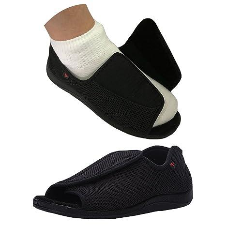 7e0464a421111 NEPPT Diabetic Shoes Slippers Orthopedic Arthritis Feet Extra Wide Sandals  Men